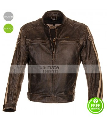 Richa Retro Racing Vintage Brown Motorcycle Jacket