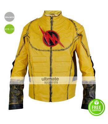 The Reverse Flash Lightning Yellow Jacket Costume