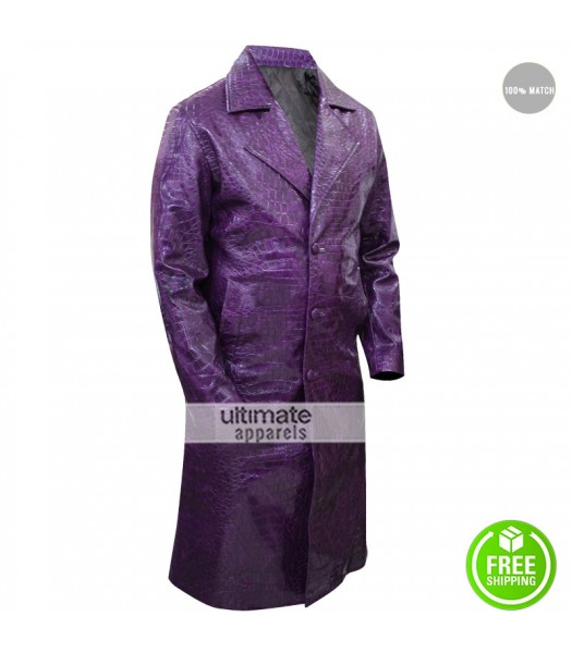 Jared Leto Suicide Squad Crocodile Joker Coat