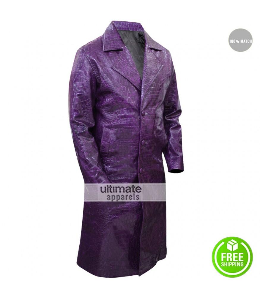 Jared Leto Suicide Squad Crocodile Joker Coat