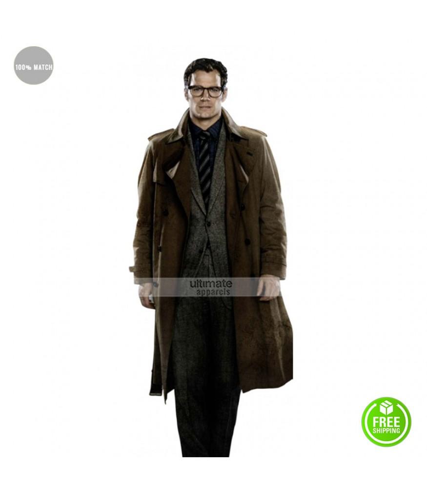 Batman V Superman Henry Cavill Superman Trench Coat