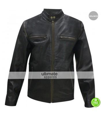 Mark Wahlberg Daddys Home Biker Black Jacket
