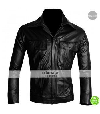 Elvis Presley The King Black Leather Jacket