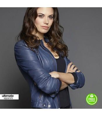 Intelligence Meghan Ory (Riley O'Neil) Blue Jacket