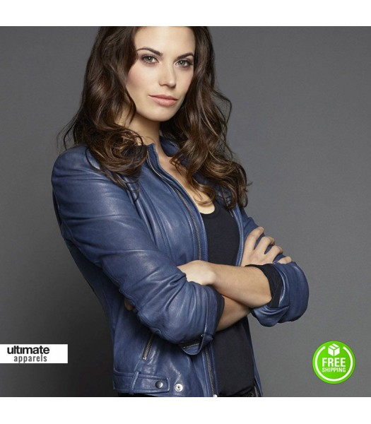 Intelligence Meghan Ory (Riley O'Neil) Blue Jacket