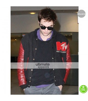 Robert Pattinson MTV Bomber Letterman Jacket