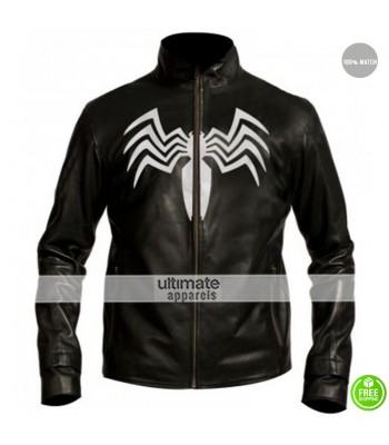 Spiderman 3 Venom Eddie Brock Black Leather Jacket