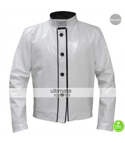 Hangover Ken Jeong Chow White Leather Jacket