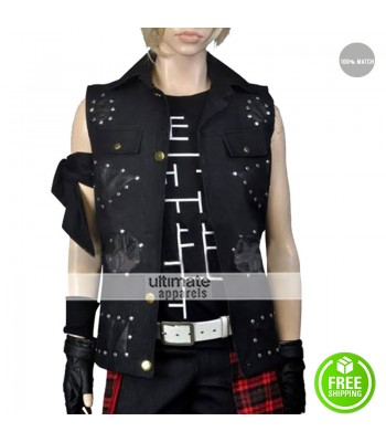 Final Fantasy 15 Prompto Argentum Black Leather Vest