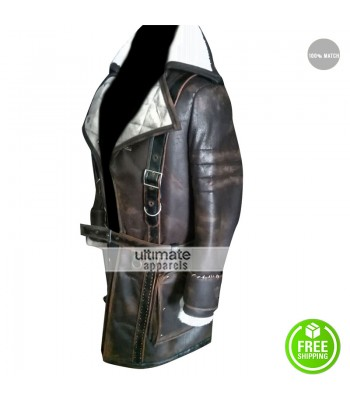 Arthur Maxson Fallout 4 Brotherhood of Steel Fur Collar Leather Coat