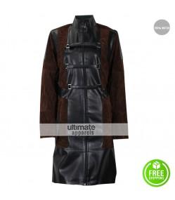 Zoe Saldana Guardians of the Galaxy Vol 2 Gamora Leather Costume Coat