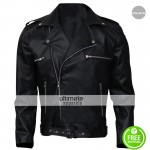 Walking Dead Season 6 Dean Morgan Black Leather Jacket