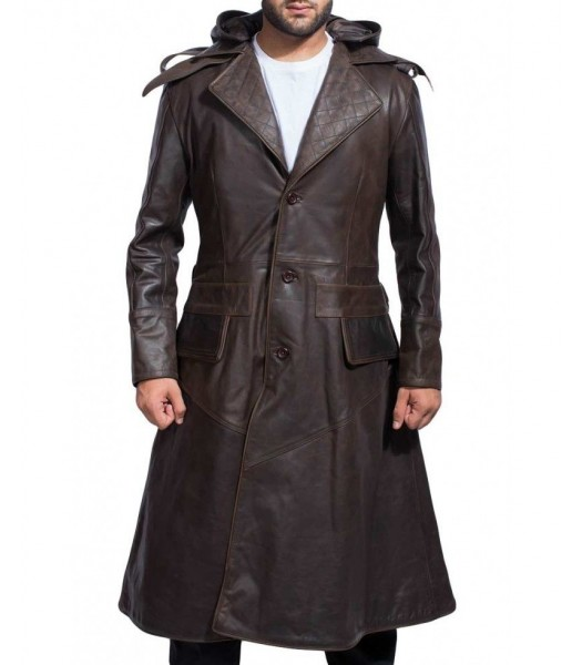 Assassin S Creed Syndicate Jacob Frye Brown Leather Trench Coat