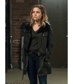 Chicago P.D Erin Lindsay Black Leather Coat