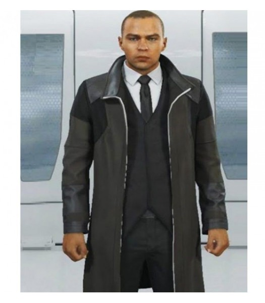 Detroit Become Human Android RK200 Markus Black Costume Cotton Coat