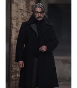Polar Netflix Mads Mikkelsen (Duncan Vizla) Black Wool Coat
