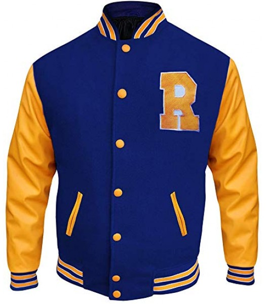 Riverdale Archie Andrews Varsity Letterman R Bomber Leather Jacket