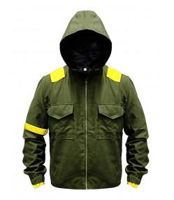 Mens Twenty One 21 Cotton Pilots Hoodie Jumpsuit Jacket Green