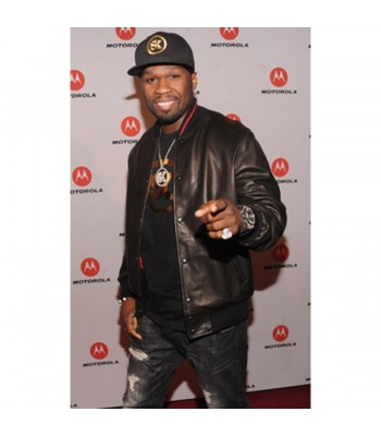 Curtis Jackson 50 Cent Black Leather Jacket