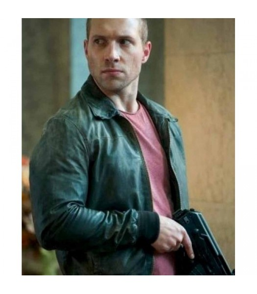 A Good Day To Die Hard 5 Jai Courtney Black Leather Jacket