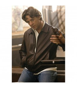 American Gangster Russell Crowe Brown Leather Jacket