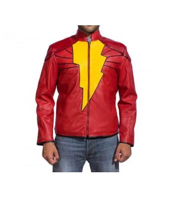 Captain Marvel Shazam Leather Jacket