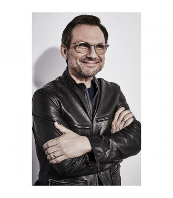 Christian Slater Mr Robot Leather Jacket