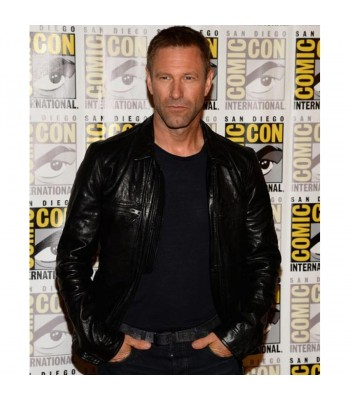 Aaron Adam Eckhart Frankenstein Leather Jacket