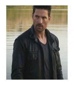 Alphas Cameron Hicks Black Leather Jacket
