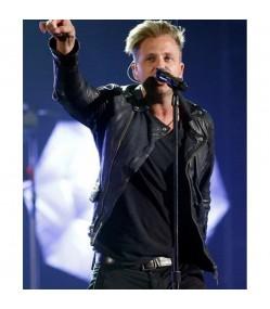 Billboard Ryan Tedder Black Leather Jacket