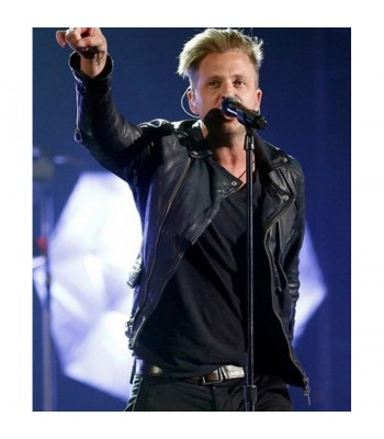 Billboard Ryan Tedder Black Leather Jacket