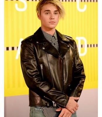 Justin Bieber Motorcycle Brando Biker Leather Jacket