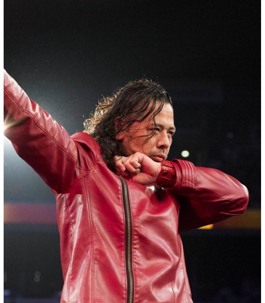 WWE Shinsuke Nakamura Red Leather jacket