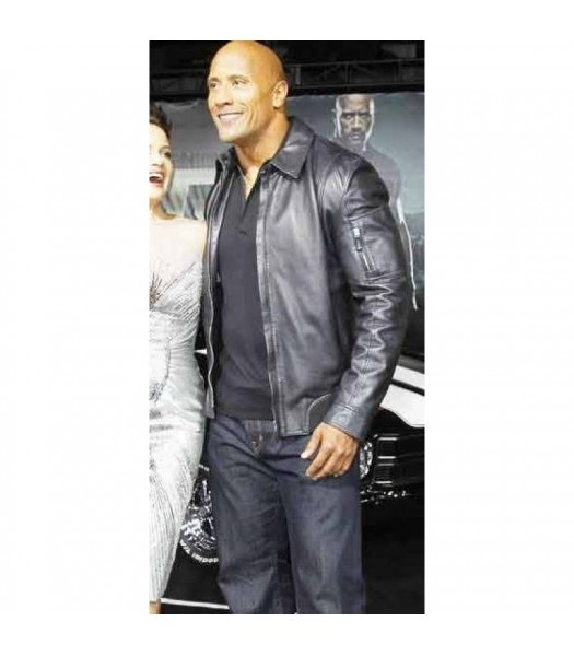 The Rock Movie Faster Leather Jacket