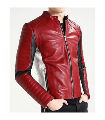 Freddie Mercury Bohemian Rhapsody Red Leather Jacket