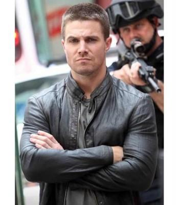 Stephen Amell Teenage Mutant Ninja Black Leather Jacket