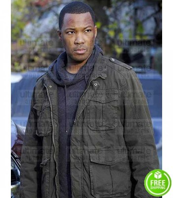 24 LEGACY COREY HAWKINS (ERIC CARTER) GREEN COTTON JACKET