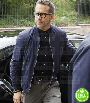 6 UNDERGROUND RYAN REYNOLDS (ONE) BLUE BOMBER JACKET