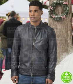 A CHRISTMAS DUET ROME FLYNN (JESSE COLLINS) LEATHER JACKET