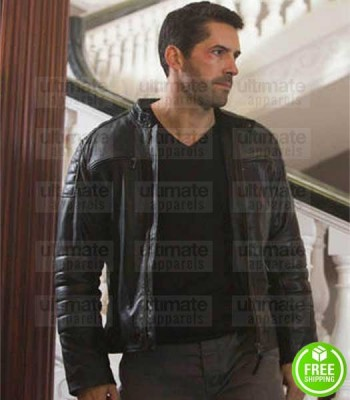 ACCIDENT MAN SCOTT ADKINS (MIKE FALLON) LEATHER JACKET