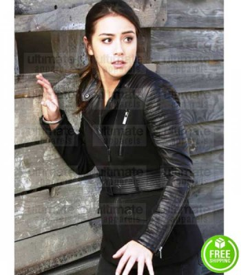 AGENTS OF SHIELD CHLOE BENNET (SKYE JOHNSON) LEATHER COAT