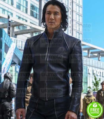 ALTERED CARBON WILL YUN LEE (STRONGHOLD KOVACS) BLACK LEATHER JACKET