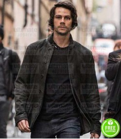 AMERICAN ASSASSIN DYLAN O'BRIEN (MITCH RAPP) BLACK LEATHER JACKET