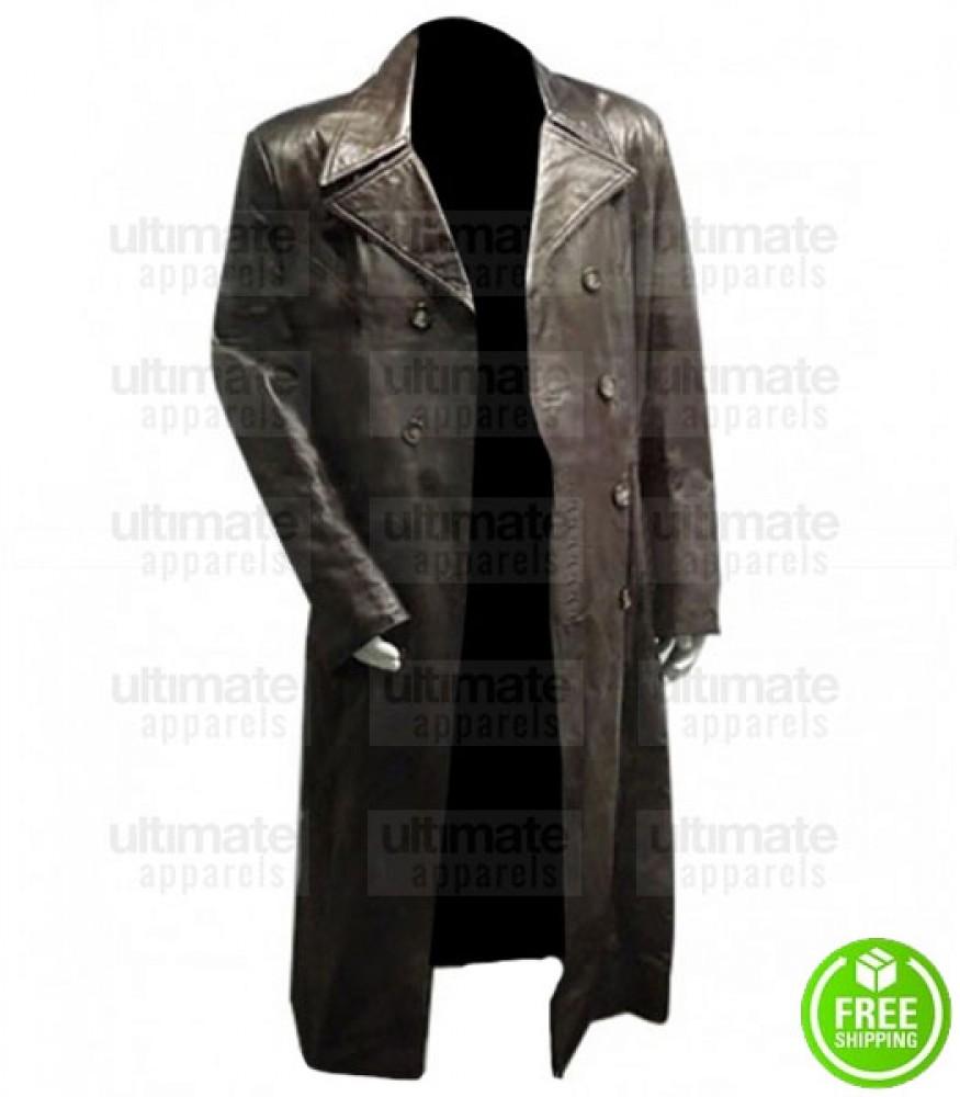 AMERICAN GANGSTER DENZEL WASHINGTON (FRANK LUCAS) BLACK LEATHER COAT