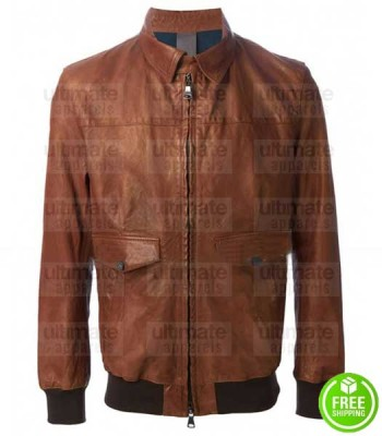 AMERICAN HORROR STORY WES BENTLY (JOHN LOWE) BOMBER LEATHER JACKET