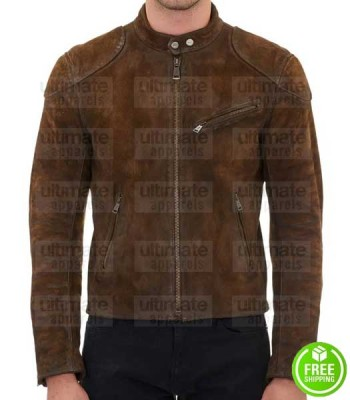 ARROW SEASON 3 COLTON HAYNES (ROY HARPER) BROWN SUEDE JACKET