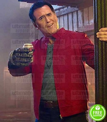 ASH VS EVIL DEAD BRUCE CAMPBELL (ASHLEY WILLIAMS) RED COTTON JACKET