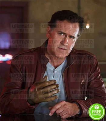 ASH VS EVIL DEAD BRUCE CAMPBELL (ASHLEY WILLIAMS) BROWN LEATHER JACKET