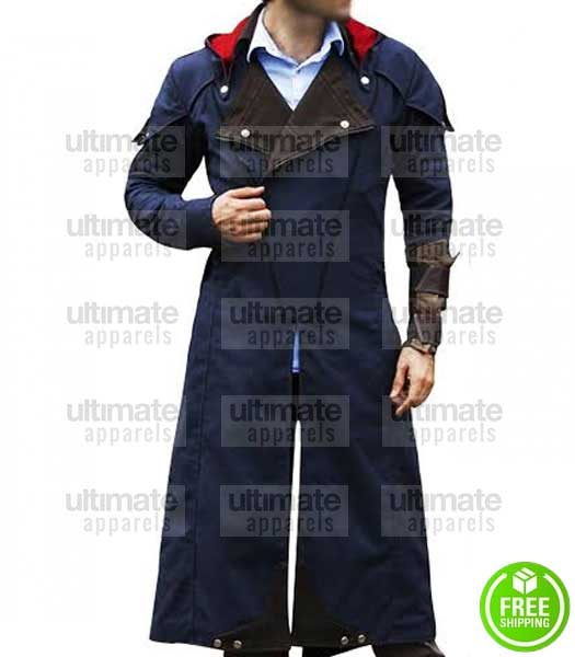 ASSASSIN'S CREED UNITY ARNO DORIAN CLOAK COSPLAY COSTUME COAT