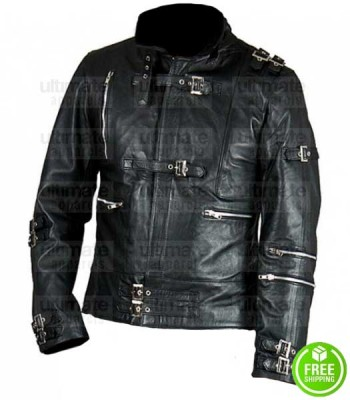 MICHAEL JACKSON BAD SONG LEATHER BLACK JACKET